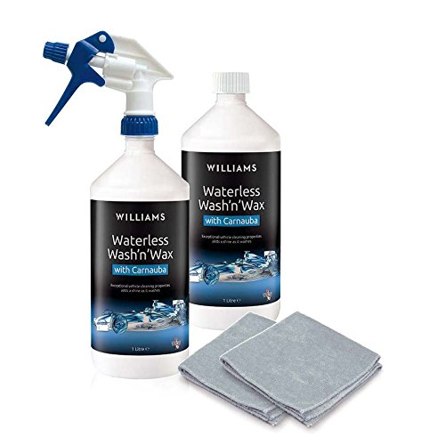 Williams Racing Waterless Wash Wax, Kit detergente e Cera Senza Acqua, 2 x 1 litro Assured Products Limited APL1009