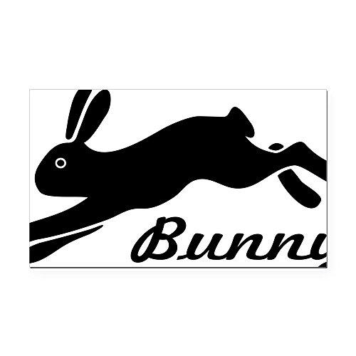 (CafePress - Bunny Hare Rabbit Rectangle Car Magnet - Rectangle Car Magnet, Magnetic Bumper Sticker )