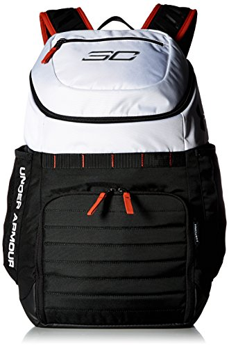Under Armour SC30 Undeniable Backpack,White (100)/Black, One Size (Under Armour Basketball Bag)