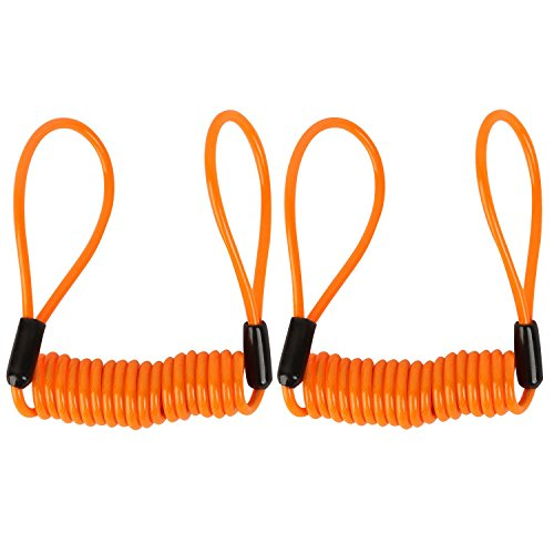 1.2M Bicycle Motorbike Disc Lock Cable Wire (Orange) - 2