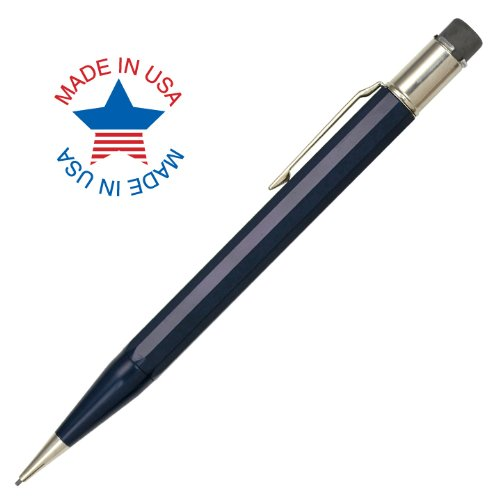 Autopoint® Jumbo All-American® Pencil, 1.1mm tip, Paneled Barrel, Dark Blue, American Made (30011DB)