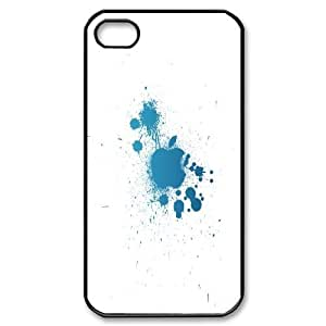 [Apple] Apple Splat.png Case for IPhone 4/4s, IPhone 4/4s Case {Black}