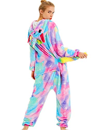 Plus Size Ho Costumes (qqonsie Unicorn Onesie Adult Pajamas for Women Men Teens Onsie Pijama Costume Pj (XL for Height 70