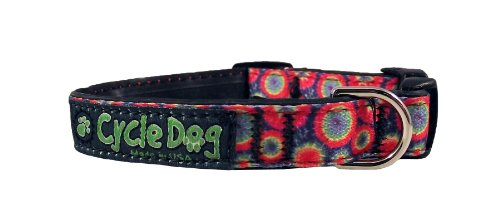 Recycled Dog Collar Narrow Width, Tie Dye, Small