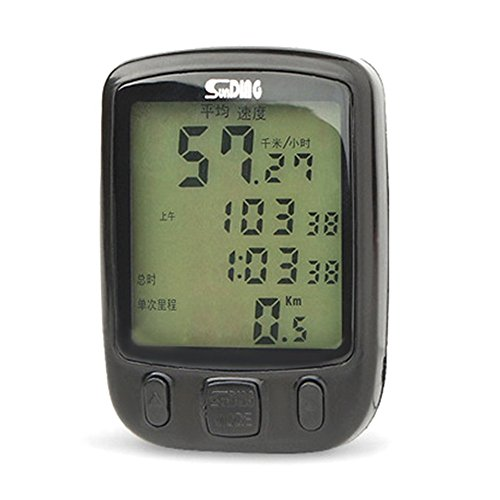 563B Waterproof LCD Display Cycling Bicycle Computer Odometer Speedometer with Green Backlight by Isguin