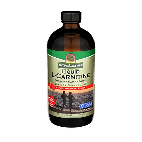 (Nature's Answer Liquid L-Carnitine Raspberry flavor 1200 mg 16-Fluid Ounces Cellular Energy Dietary Supplement)