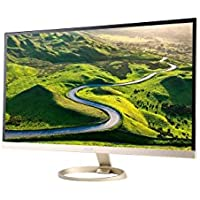 Acer H7 Series H277HU kmidpx 27 Gold LED Monitor, 2560 x 1440, 16:9, 100,000,000:1, 350 cd/m2, 4ms, HDMI, DVI, DisplayPort, Tilt, Built-in Speaker
