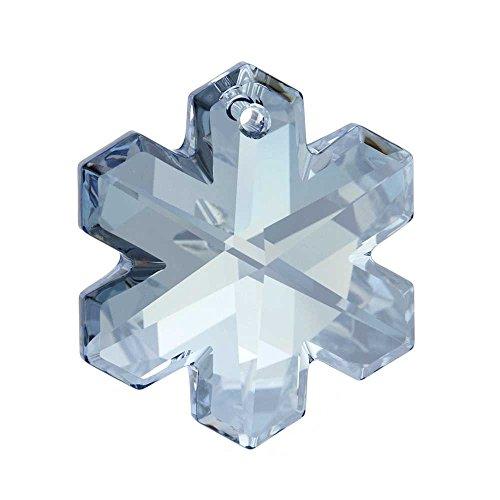 Swarovski Crystal, 6704 Snowflake Pendant 25mm, 1 Piece, Crystal Blue Shade