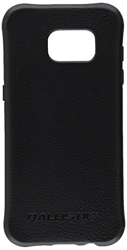 Ballistic, Galaxy S7 Edge Case [Urbanite Select] 6ft Drop Tested Protection [Black w/Buffalo Leather] with Design/Pattern Cell Phone Case for Samsung Galaxy S7 Edge - Black w/Buffalo Leather (Green Line On Screen Galaxy S7 Edge)
