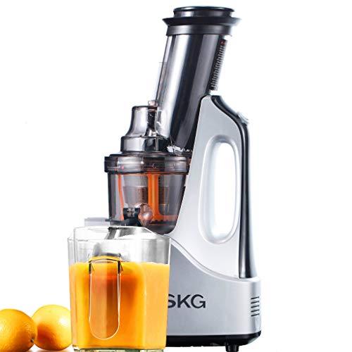 SKG NEW Wide Chute Anti-Oxidation Slow Masticating Juicer (240W AC Motor, 60 RPMs, 3