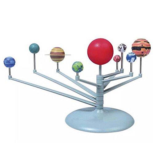 HS Children DIY Planets Model Toys Planetarium Solar System Model Kit Kids Science (Solar Science Lab)
