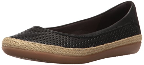 Clark Collection - CLARKS Women's Danelly Adira Ballet Flat, Black Leather, 7 M US