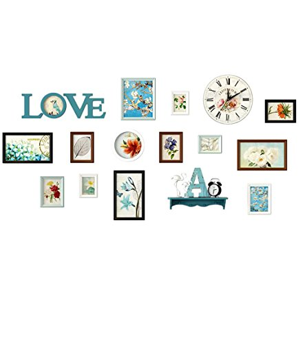 Home@Wall photo frame Photo Gallery Frame Set Of Wall With Usable Artwork And Family, Set Of 13 ( Color : A ) by ZGP