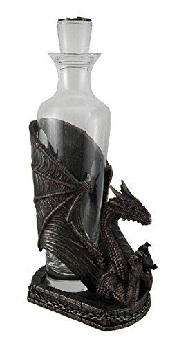Dragon's Firewater Decorative Glass Spirit Decanter In Medieval Dragon Basket by Zeckos (Image #1)