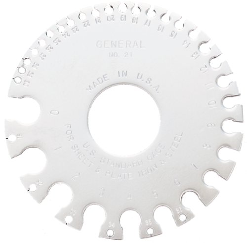General Tools 21 US Standard Sheet Metal Round Gage