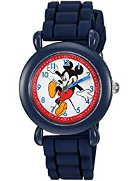 Boy's 'Mickey Mouse' Quartz Plastic and Silicone Casual Watch, Color:Blue (Model: WDS000012)
