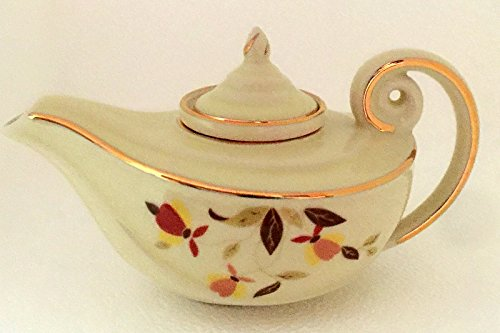 Hall China Autumn Leaf Pattern Mini Miniature Aladdin Teapot China Specialties
