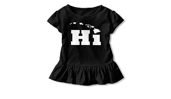 2-6T Cute Sweatshirt with Falbala Zi7J9q-0 Short Sleeve Hi with Hawaii Island T-Shirts for Kids