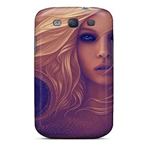 Galaxy S3 Cases Covers - Slim Fit Protector Shock Absorbent Cases (3d Girl Face)