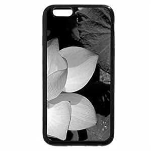 iPhone 6S Case, iPhone 6 Case (Black & White) - Lotus