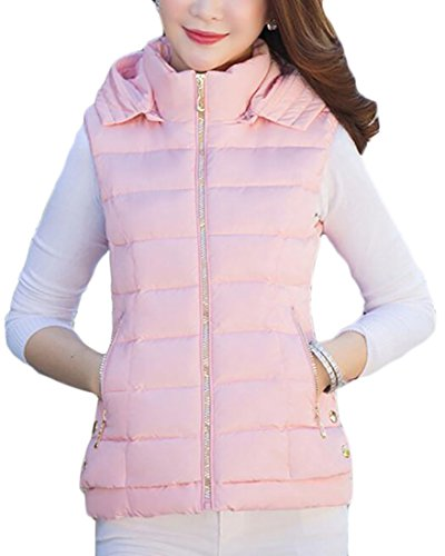 Outwear today Down Puffer Quilted Collar Vest 4 Stand Womens Warm Hooded UK 8rxqwvrfI