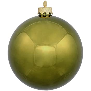 Vickerman 60 Count Shiny Olive Green Shatterproof Christmas Ball Ornaments, 2.5""