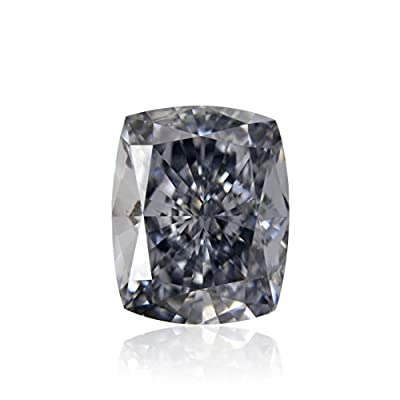0.70Cts Fancy Gray Blue Loose Diamond Natural Color Cushion Cut GIA Certificate