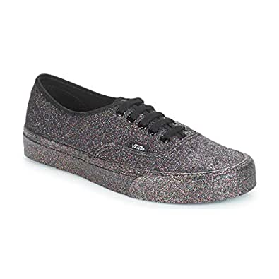 Vans Rainbow Glitter Authentic Men's Sneaker Mens Skateboarding-Shoes VN-A38EMUKN_5.5M - Rainbow Glitter Black/Black