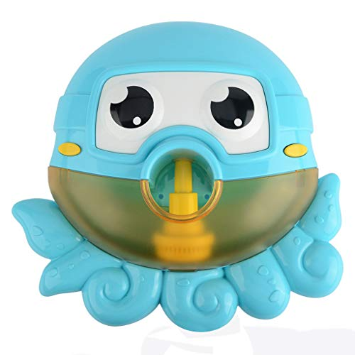 Binory Automatic Big Octopus Bubble Machine with 12 Nursery Rhyme for Summer Bath Toys,Creative Bubble Maker Bathtub Toys for Toddlers Baby,Enjoy Outdoor & Indoor Happy Tub Time,Birthday Gift(Blue)