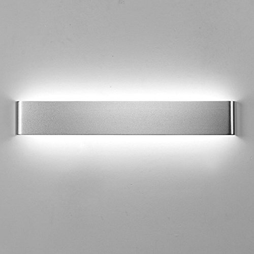 Body Lei (Led Wall Lamp LEI LEI, 110-240V 23W Simple Fashion Acrylic Lampshade Aluminium Baking Finish The Lamp Body Bedroom A Living Room Hotel Restaurant Wall Lamp Black Silvery 60CM9CM ( Color : Silver ))