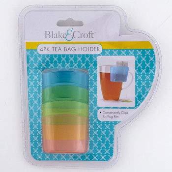 DollarItemDirect Tea Bag Holder 4 Pack Plastic Hangs on Mug Lip Clampack, Case of 24 by DollarItemDirect