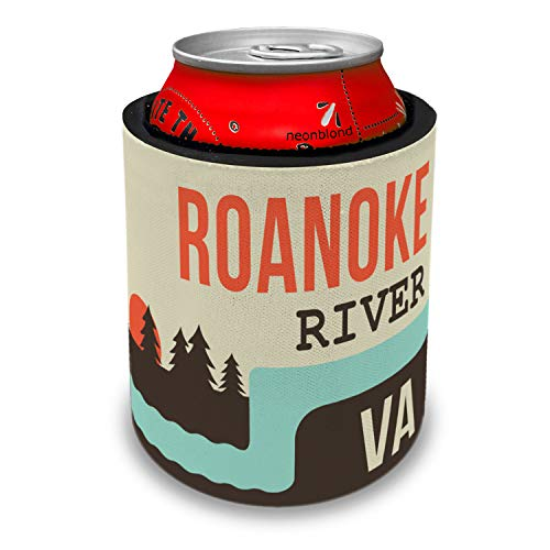 NEONBLOND USA Rivers Roanoke River - Virginia Slap Can Cooler Insulator Sleeve
