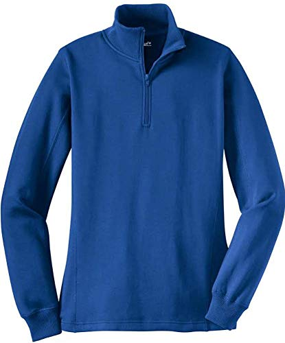 Ladies Athletic 1/4-Zip Sweatshirt in Sizes XS-4XL True Royal