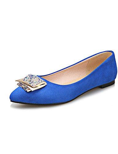 rojo PDX uk4 carrera Flats azul señaló plano us6 las casual talón cn36 y de Toe black oficina mujeres vestido eu36 zapatos negro rRxrpa