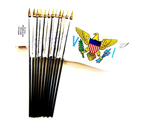 Made in USA!! Box of 12 US Virgin Islands 4