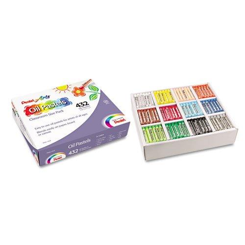 PENPHN12CP - Pentel Arts Oil Pastels Class Pack, Set of 432