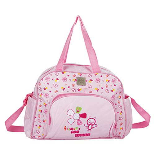 Mee Mee Multipurpose Diaper Bag with Changing Mat  Baby Pink