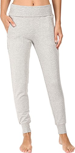 Beyond Yoga Women's Fleece Fold-Over Sweatpants Heather Gray Medium