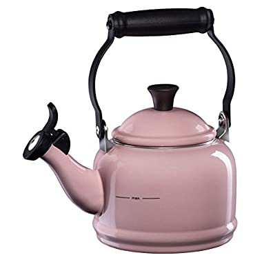Le Creuset of America Enamel on Steel Demi Tea Kettle, 1-1/4-Quart, Hibiscus