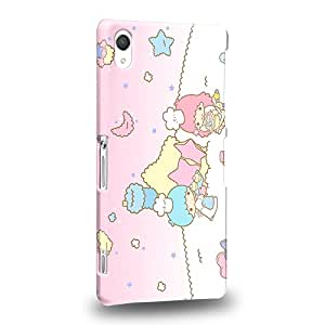 Case88 Premium Designs Little Twin Star Kiki And Lala Dreamy Diary 1315 Protective Snap-on Hard Back Case Cover for Sony Xperia Z2 (Not Z2 Compact !)