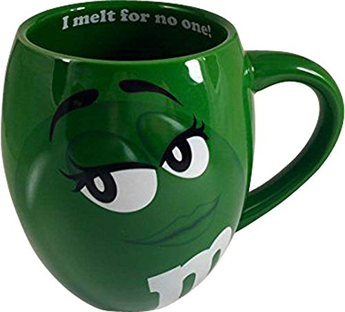 MM's Big Face Ceramic Mugs (Green) m&m m & m for sale  Delivered anywhere in USA