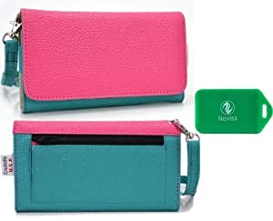 Alcatel One Touch Idol Ultra *Ladies Dual Color Wristlet PLUS bonus Neviss luggage tag*