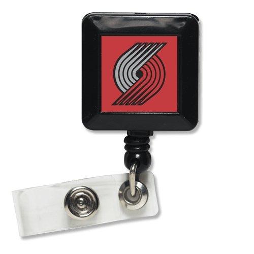 NBA Portland Trail Blazers Retractable Badge Holder, Black