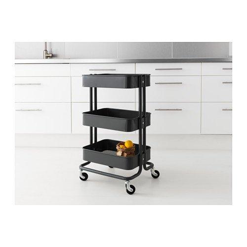 Ikea &apos Camarera (råskog Carrito de Cocina Carrito Bar Carro baño Carro - con Ruedas - Tamaño: 35 x 45 x 78 cm - Negro: Amazon.es: Hogar