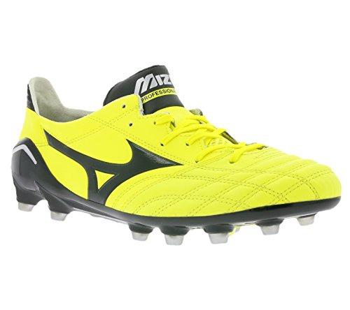 Mizuno Botas de Futbol Oficial 2015/2016 Morelia Neo MD P1GA151394 Negro amarillo 41