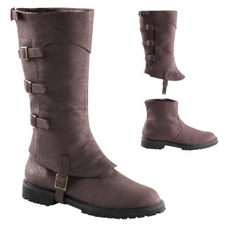 Men's brown Gotham double shaft with buckles Arno Dorian style 2 for 1 engineer boot.
