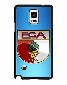 Mewmewtat - FC Augsburg Logo Samsung Note 4 Cell Phone Funda Case Hard Plastic, Hard Funda Case Ultra Thin Scratch-Proof Back Film Protector Skin For Samsung Note 4