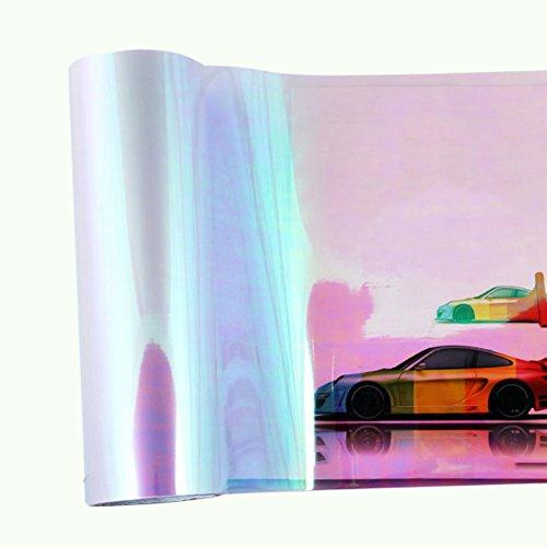 KKmoon 12030cm Shiny Chameleon Auto Car Styling Headlights Taillights Translucent Film Lights Change Color Tint Car Protective Film (Translucent Headlight Decal)