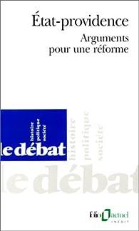 État-providence: Arguments pour une réforme par Patrice Bourdelais