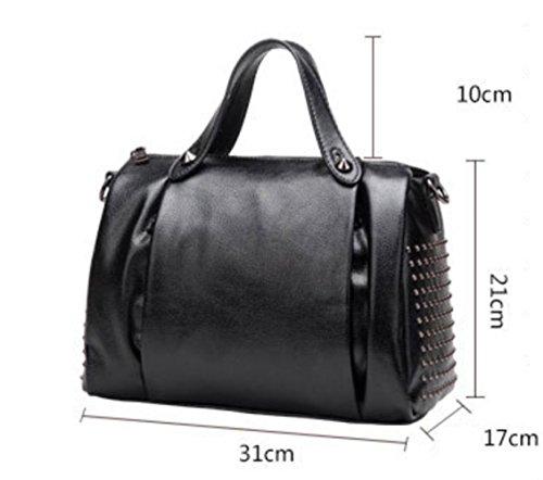 Véritable Bandoulière Body Bag Voyage Cuir Femmes Bigred à Main Sacs Mode à Sacs Cross Shopping RpqnaBO8